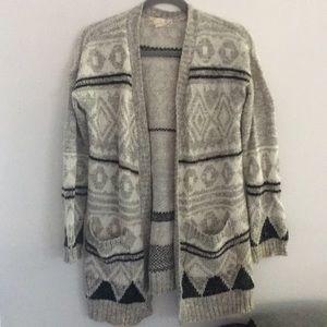 🧶 Sweater Long Black Gray With Pockets Medium